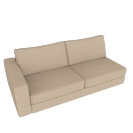 Reid One-Arm Sofa Left, Lama Tweed - Oatmeal