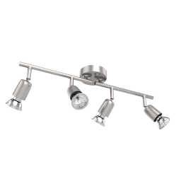 Value Keely 4 Spotlight Ceiling Bar, Chrome