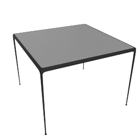 1966 Collection Porcelain Dining Table, 38'' Square, Onyx