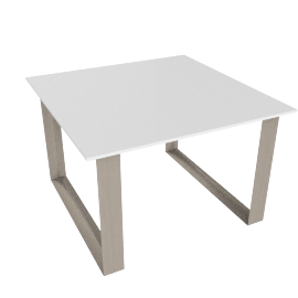 Venus End Table, HG Wht/Grey