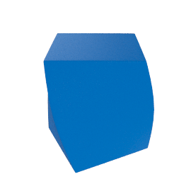 Frank Gehry Left Twist Cube - Blue