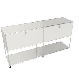 USM Haller Open Storage Credenza, White