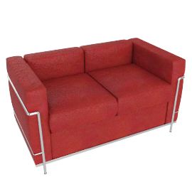 LC2 Petit Modele Two-Seat Sofa