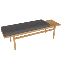 Jens Bench , Frame -Oak, Fabric -Pebble Weave: Pumice