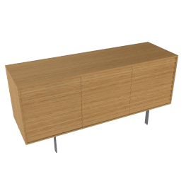 Sussex Credenza Three with Drawers - Oak
