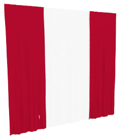 Ashley 4-piece Curtain Set - 135x240 cms, Red