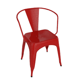 Pair of Legend Café Armchairs, Red