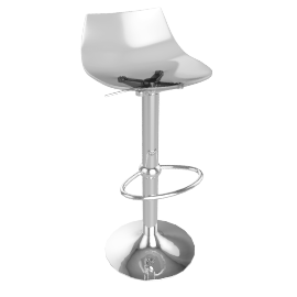 Led Bar Stool, Smoke