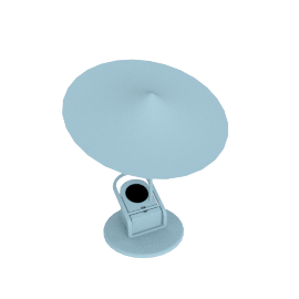 Sempe W153 Ile Clamp Lamp, Sky Blue