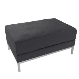Odyssey Footstool, Arredo Black