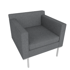 Theatre Armchair, Soft Weave Fabric, Pepper