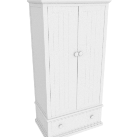 Hickory Double Wardrobe, White