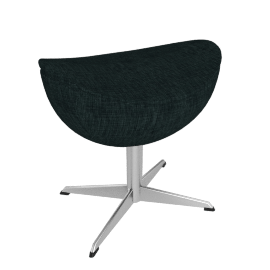 Egg™ Footstool - Fame Fabric - Charcoal
