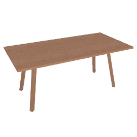 Forte Table Rectangle, Wood Top