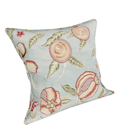 Sanderson Fruit Silk Embroidered Cushion, Slate