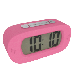 Lucas Table Clock, Pink