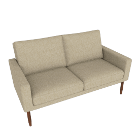 Raleigh Two-Seater Sofa, Walnut Frame and Ducale Wool, Tumbleweed