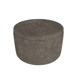 Retina Quilted Ottoman with Storage, Grey