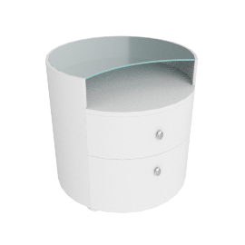 WAVE NIGHT STAND, White