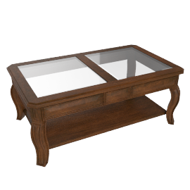 Glory Oceanic New Coffee Table, Brown
