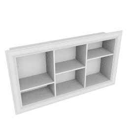 Window Display Wall Shelf, Pearl White