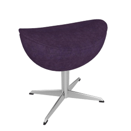 Egg™ Footstool - Fame Fabric - Eggplant