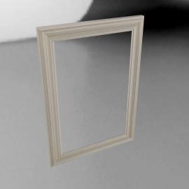 John Lewis Distressed Mirror, Cream, 102 x 72cm