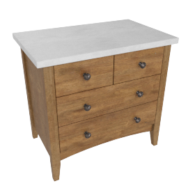 Springfield Night Stand-L.Oak/A.Silver