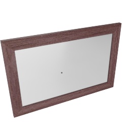 Caroline Mirror-D.Maple/Silver
