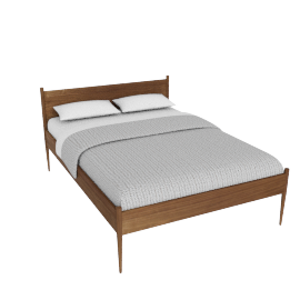 Cove Full Bed, Walnut