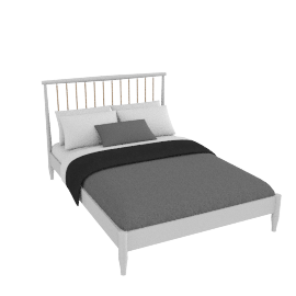 Lomond bedstead French grey, double
