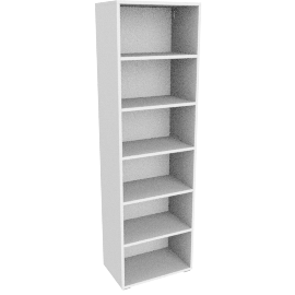 Match Tall Single Shelf Unit, White