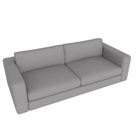 Reid 86'' Sofa in Ducale Wool, Light grey