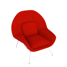 Womb™ Chair - Cato - Fire.Red