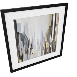Gregory Lang - Cathedral Neutral Frameds Print , 86 x 86cm