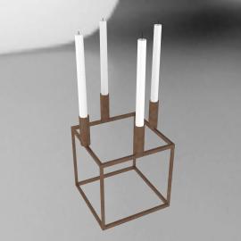 Kubus 4 Candleholder, copper