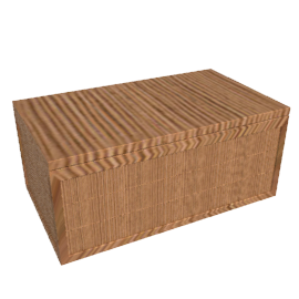 Rubberwood and Bamboo Trunk