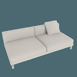 Como Armless Sofa, Gesso