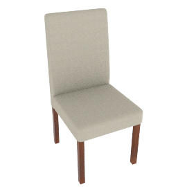 Alfie Leather Dining Chair, Cream