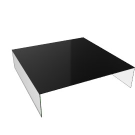Pool Coffee Table Low - Black.New