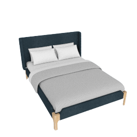Roscoe King size bed, Aegean Blue