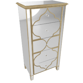 Casablanca 5-Drawer Chest of Drawers