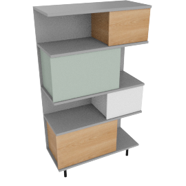 Fowler tall shelving unit, multicolo/ash