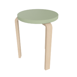 Aalto Stool 60, Lacquered Green