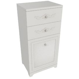 Elena 2 Drawers with 1Dr Cabinet, Pearl Cream