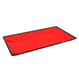 Oblong Earthenware Plate, Red, 23 x 13cm