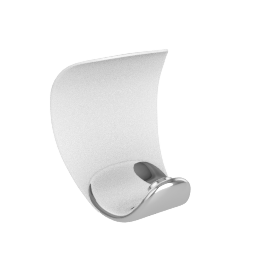 Luceplan Curl, chrome-white