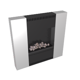 Burley Flueless Gas Fire, Image 4237-R, Brushed Steel