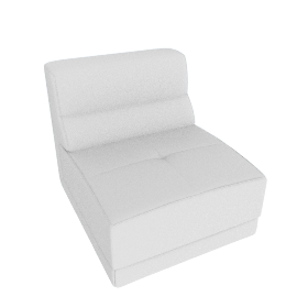 Lynsey 1-Seater Armless Sofa, White