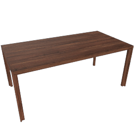 Doubleframe Table 70 x 36, Walnut